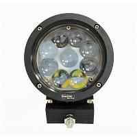 Lampa iluminat 9 leduri 10-60V 45W - unghi radiere 30 de grade tip spot lentila 4D, 139x139x74mm IP67 6000K