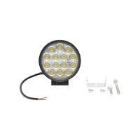 Lampa iluminat 14 leduri 10-30V 42W - unghi radiere 60 de grade tip flood 114x114x61mm IP67 6000K