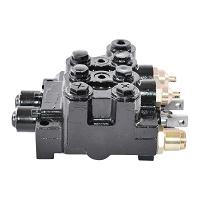 Distribuitor hidraulic cu doua manete profesional, presiune 200 bar 80L/minut
