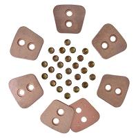 Set ferodouri disc ambreaj 4,8 mm 12 bucati cu nituri D1010 U-1010