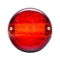 Lampa ceata LED rosie cu semnalizare fi 140mm