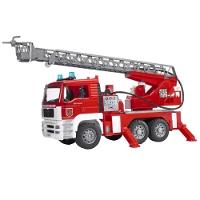 Jucarie Masina de pompieri MAN cu macara rotativa Bruder