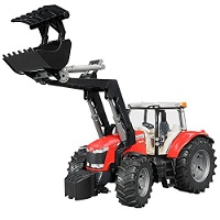 Jucarie Tractor Massey Ferguson MF7600 cu incarcator frontal Bruder
