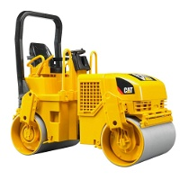 Jucarie Compactor Caterpillar pentru sol si asfalt Bruder