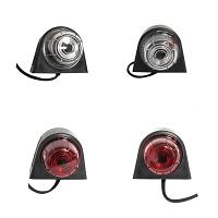 Lampi laterale de gabarit cu LED 24V, rosu-alb, PVC dur /set