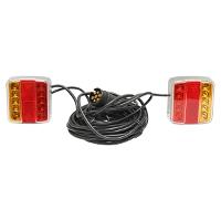 Lampi LED magnetice pentru remorca, fisa 7 pini, cablu de 2,5, L cablu = 7.5 metri /set
