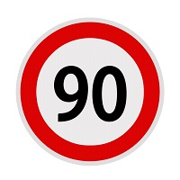 Autocolant limita viteza - 90 fi21