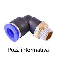 Mufa rapida cot plastic si surub metalic cu O-ring fi 8 cu M16