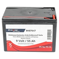 Baterie uscata (nereincarcabila) 9V 55Ah pentru gard electric Breckner Germany