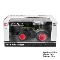 Jucarie tractor cu telecomanda doubleE RC 1:16 2.4 Ghz, lumini, sunete 25m raza de actiune 2.16 km/h viteza