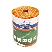Rola fir 500M 3mm 3x0.16mm portocaliu pentru gard electric Farma