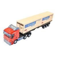 Camion (cap tractor cu remorca) Rosu jucarie