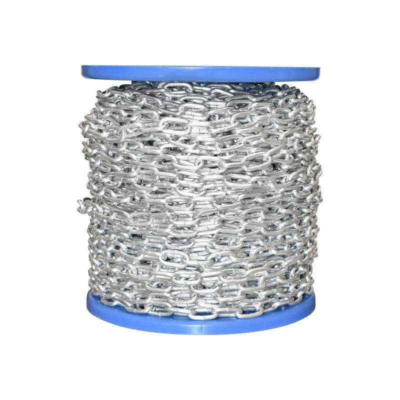 Lant electrogalvanizat 3.5x18x14mm DIN5685A 60m/rola tambur plastic