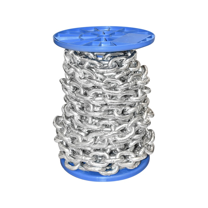 Lant electrogalvanizat DIN766 fi10 10m/rola tambur plastic