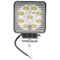 Lampa 9 LED-uri 10-60V 27W unghi de radiere 60 patrat