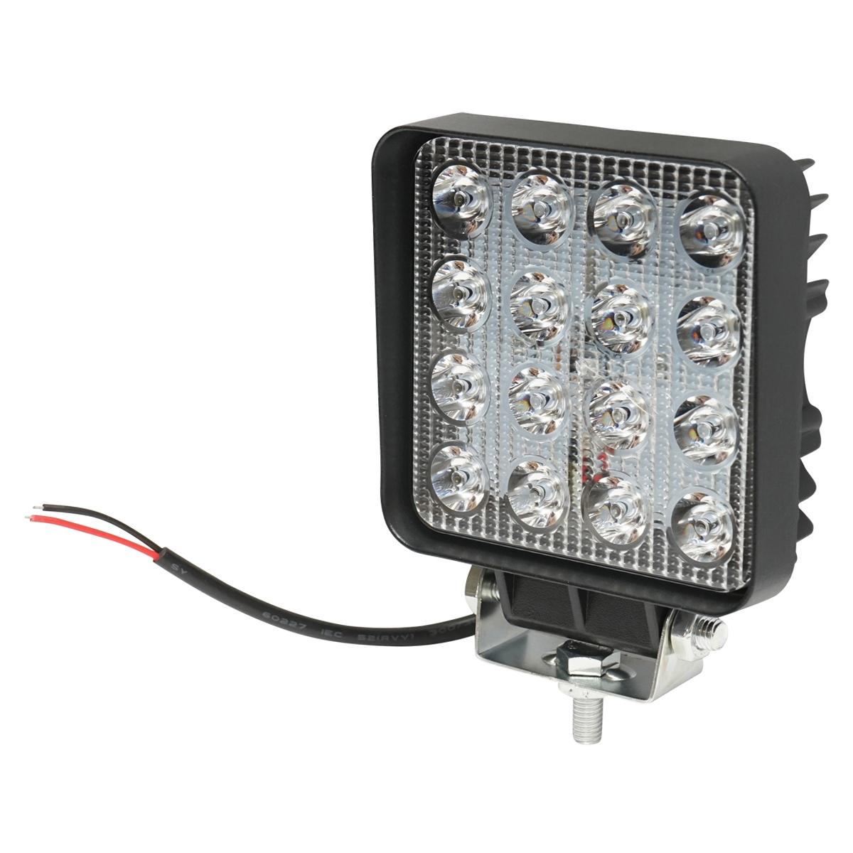 Lampa 16 LED-uri 10-30V 48W unghi de radiere 60 patrat