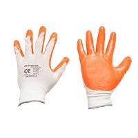 Manusi de protectie sintetice cauciucate alb-portocaliu marimea 9 Breckner Germany