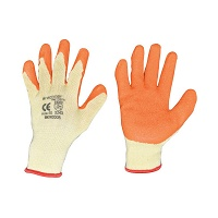 Manusi de protectie bumbac latex galben-portocaliu marimea 10 Breckner Germany