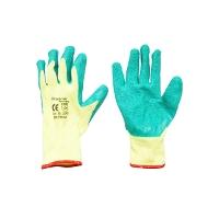 Manusi de protectie bumbac latex galben-verde marimea 10 Breckner Germany