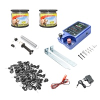 Kit complet gard electric 12-220V, 2 Joule, 1000m, 500 izolatori si kit poarta Breckner Germany