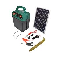 Aparat generator impulsuri 12V 1 Joule cu panou solar 10W gard electric Breckner Germany