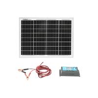 Panou solar 20W 450x340x20mm, regulator de incarcare 12/24V 10Ah, cablu 1.5/2m Breckner Germany