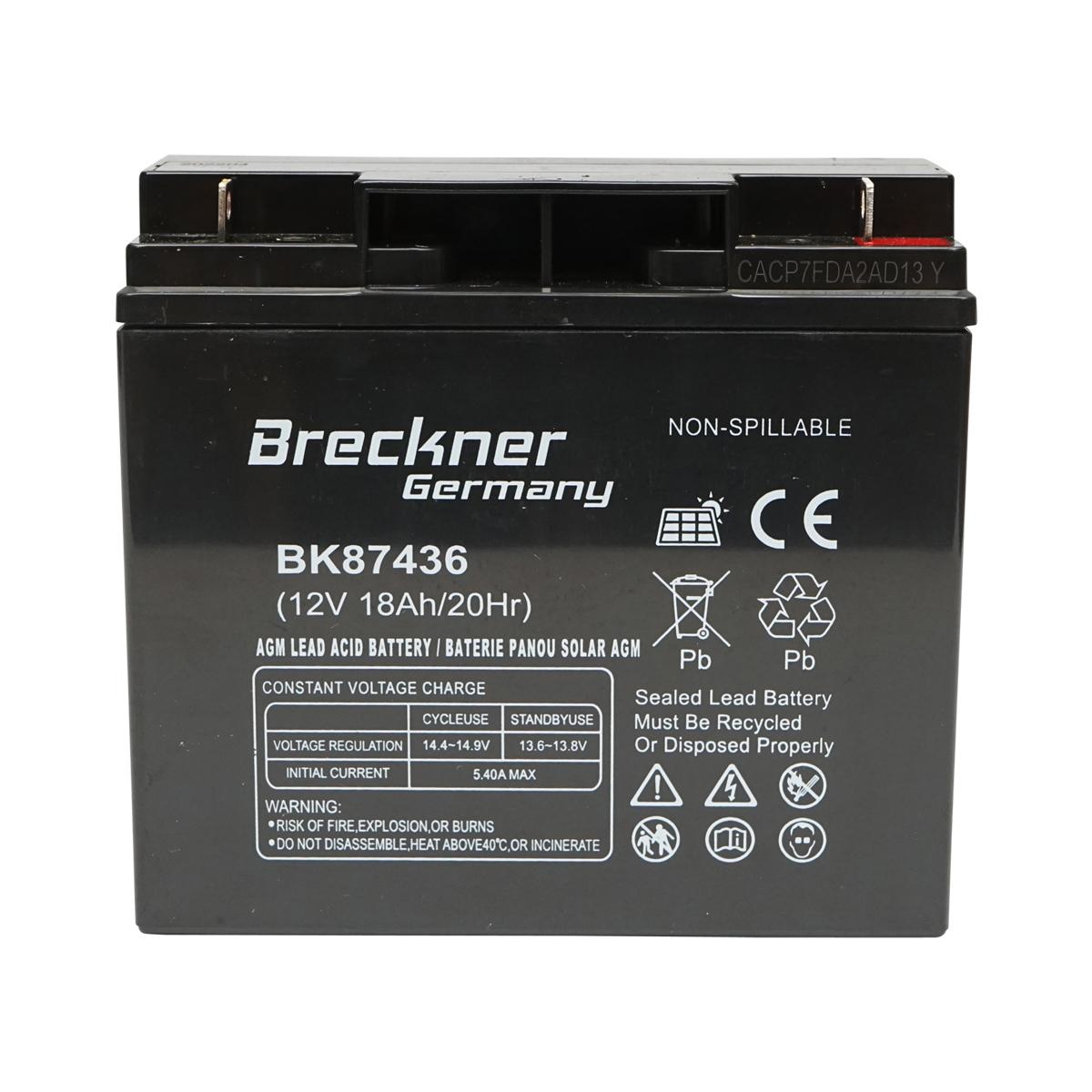 Baterie pentru panou solar 12V 17Ah Breckner Germany