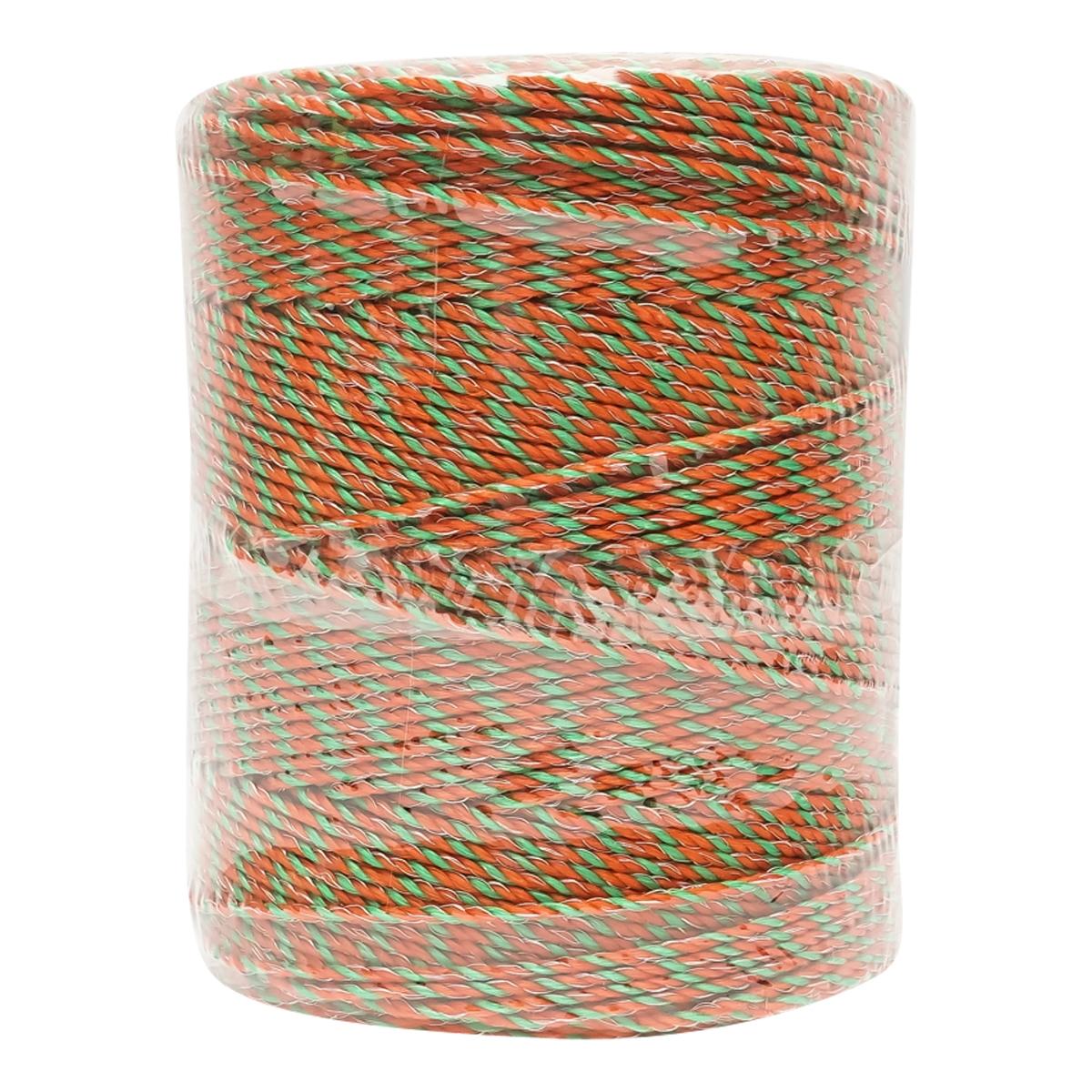 Rola fir portocaliu-verde fi 3 mm 3x0.2mm SS + 2x0.25mm CU, 500M gard electric Breckner Germany
