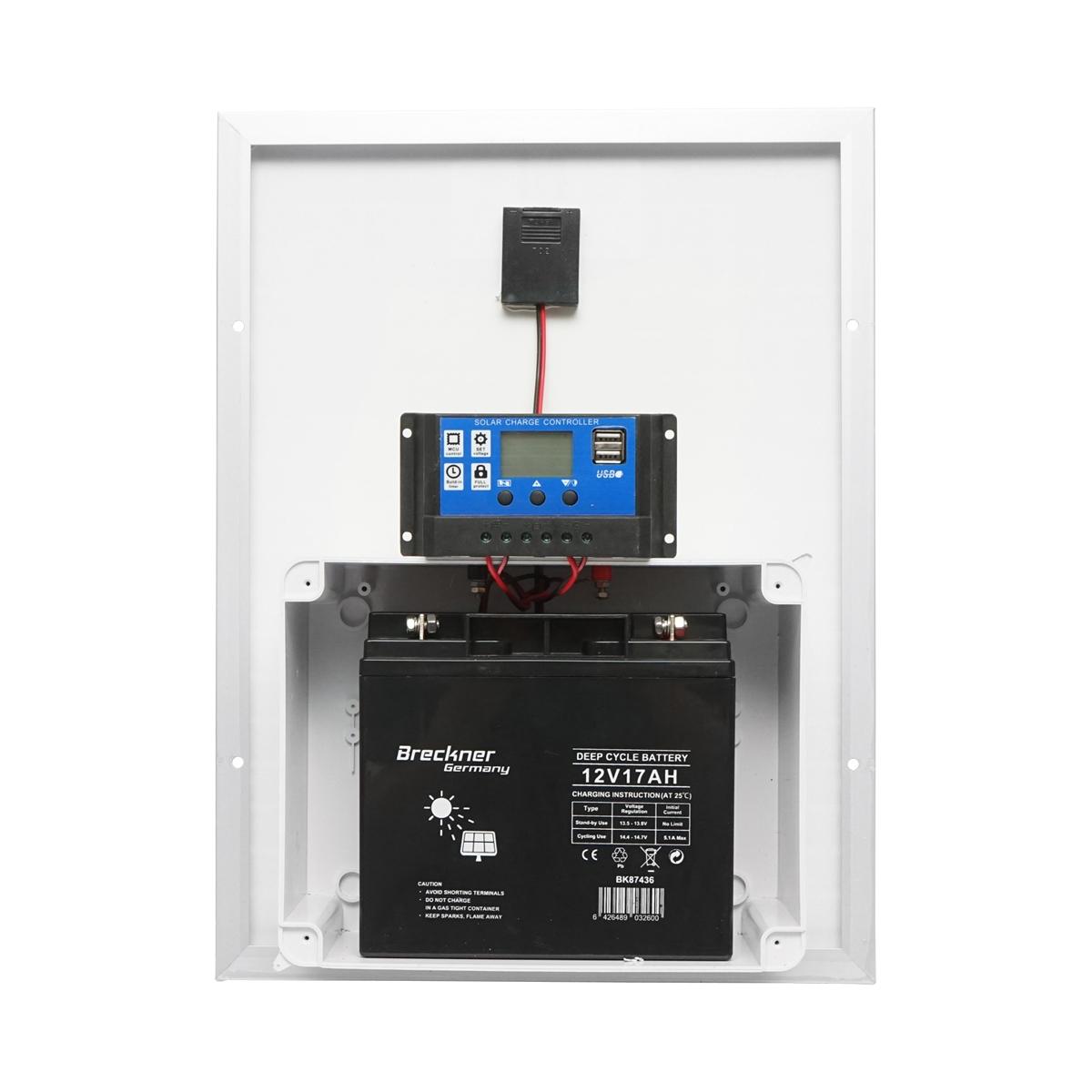 Panou solar 20W cu baterie 12V 17Ah Breckner Germany