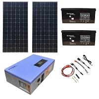 Sistem panou solar cu invertor 700W, cablu electric si accesorii de conectare Breckner Germany