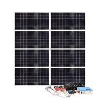 Sistem panou solar cu invertor 3000W, cablu electric si accesorii de conectare, Breckner Germany