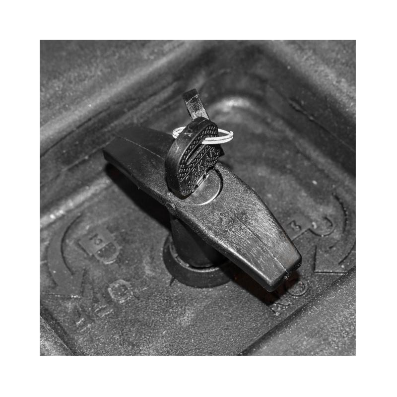 Lada pentru scule fara suport, din plastic negru 468x470x600 mm