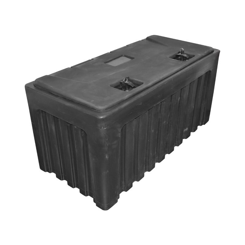 Lada pentru scule fara suport, din plastic negru 480x470x1000 mm