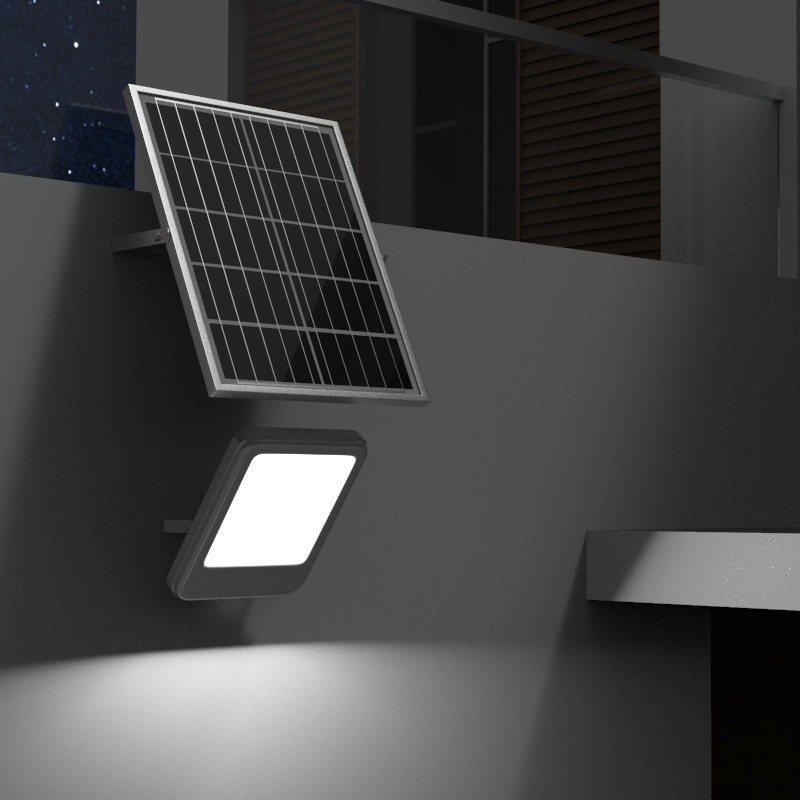 Lampa iluminat 100W cu panou solar 12W Breckner Germany