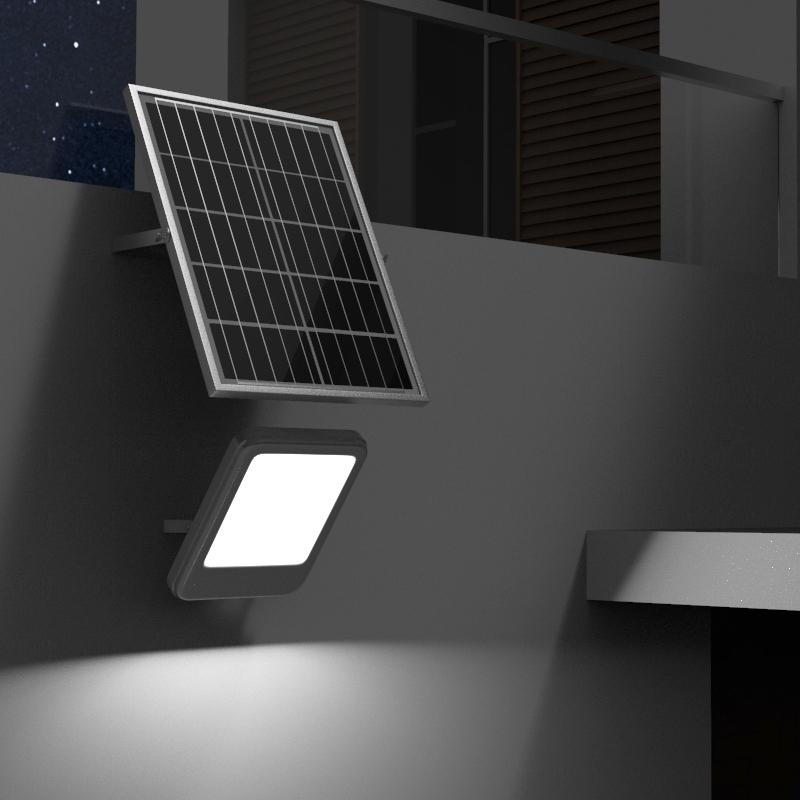 Lampa iluminat cu panou solar policristalin 12W Breckner Germany