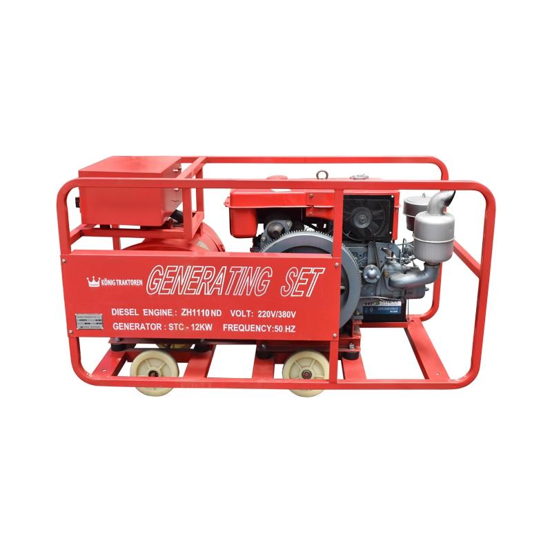 Generator curent 12kw 220/380v motor ZH1110 diesel, generator STC-12KW Konig Traktoren