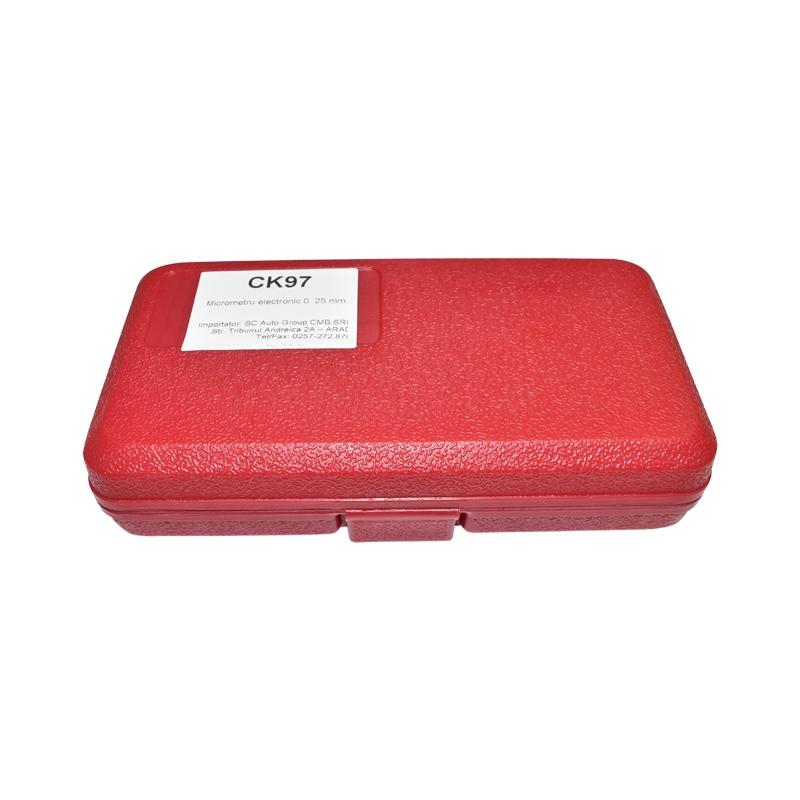 Micrometru de exterior cu afisaj digital si cadru emailat, metric 0-25mm
