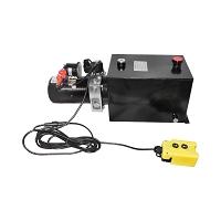 Pompa basculare 12V, 1.6kW 160 bar, cu rezervor metalic 10L si telecomanda