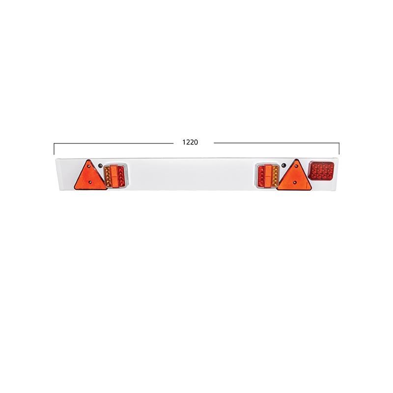 Bara remorca 1220mm, 2x lampa LED, 1x lampa ceata LED, 2x triunghi reflectorizant, cablu 6m si priza 7 pini 12/24V