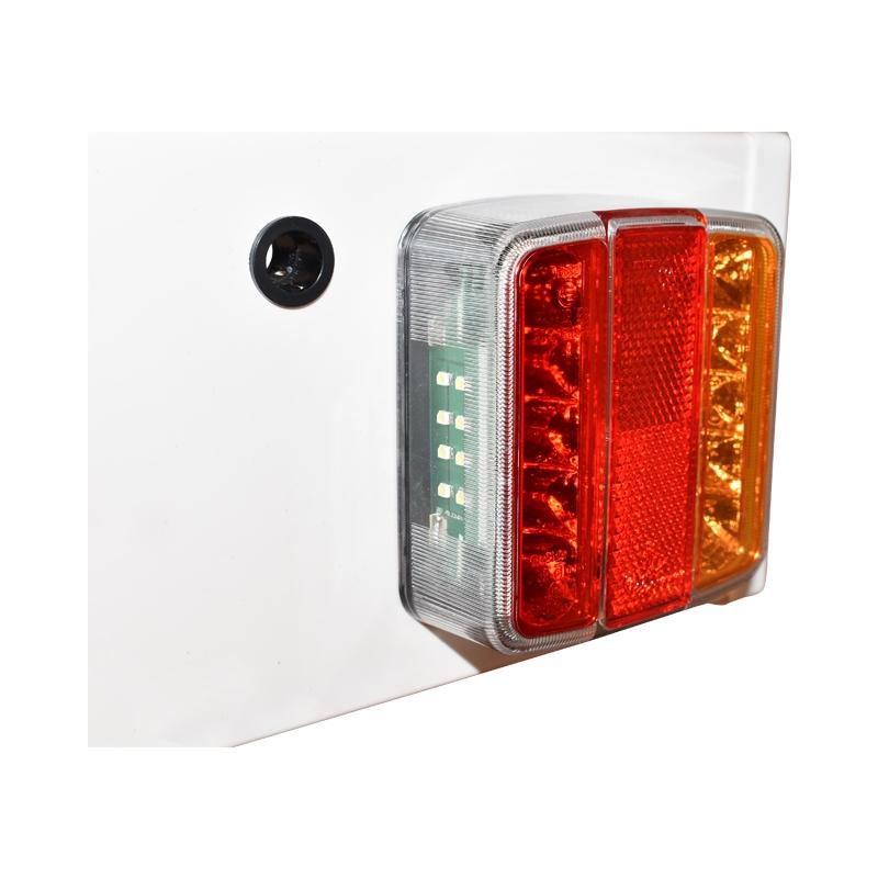 Bara remorca 1500mm, 2x lampa LED, cablu 6m, priza 7pini 12/24V
