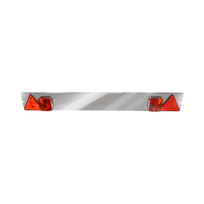 Bara remorca 1220mm, 2x lampa LED, 2x triunghi reflectorizant, cablu 6m si priza 7 pini 12V