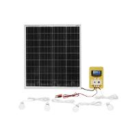 Set panou solar 780x680x25mm 75W 12-24V cu priza bricheta auto si 4 becuri LED 9W Breckner Germany