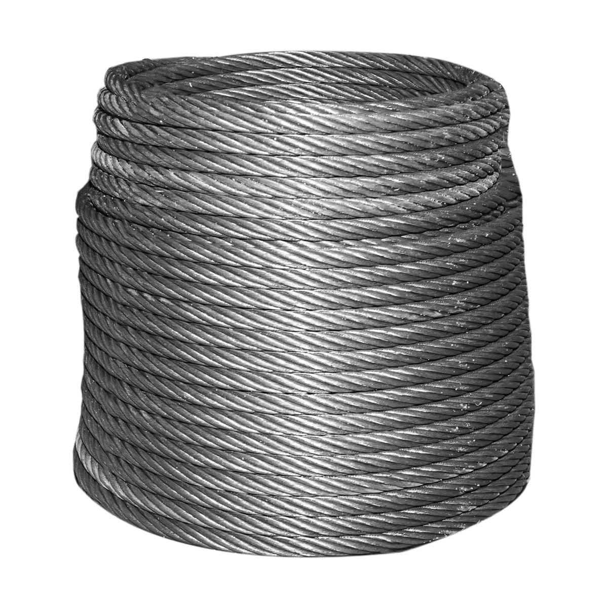 Cablu troliu otel 6x37 fi 14mm cu inima metalica 1000m/rola