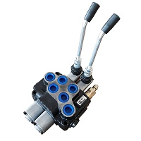 Distribuitor hidraulic cu doua manete, presiune 160-200 bar 80L/minut