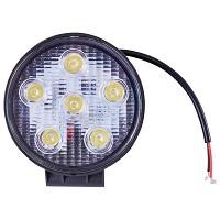 Lampa iluminat 6 leduri 10-30V 18W unghi radiere 30 de grade tip spot 118x118x35mm 6000K IP67 Breckner Germany