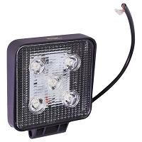Lampa iluminat 5 leduri 10-30V 15W - unghi radiere 30 de grade tip spot 108x108x36mm IP67 6000K Breckner Germany