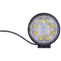 Lampa iluminat 8 leduri 10-60V 24W - unghi radiere 30 de grade tip spot 114x114x48mm IP67 6000K Breckner Germany