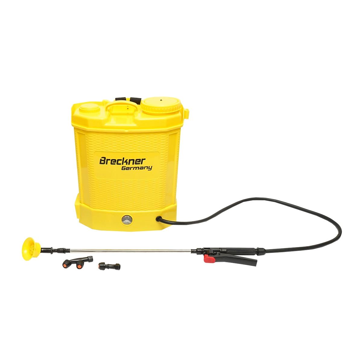 Pompa electrica/pulverizator de stropit vermorel, rezervor 12L baterie 12V 8Ah debit 3.1 l/min Breckner Germany