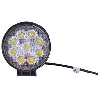Lampa iluminat 9 leduri 10-60V 27W - unghi radiere 30 de grade tip spot 114x114x48mm 6000K IP67
