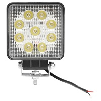 Lampa iluminat 9 leduri 10-60V 27W - unghi radiere 30 de grade tip spot 107x107x49mm 6000K IP67